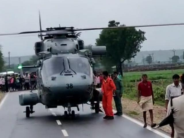 Video : In Flood-Hit Shivpuri, Air Force Carrying Out Rescue Mission