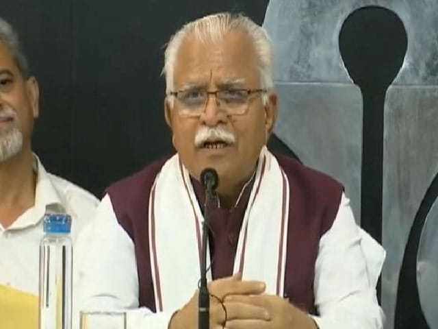 """Video : On """"Crack Farmers' Heads"""", Haryana Chief Minister's Censure, With Rider"""