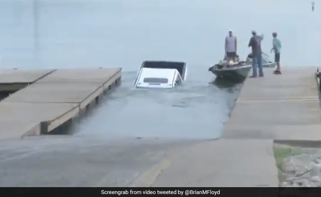 Video Of Car Sinking In Lake On Live Television Goes Viral