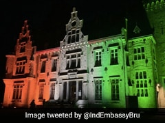 Belgium's Iconic Building Lights Up In Tricolour, Marks India's 75th Independence Day