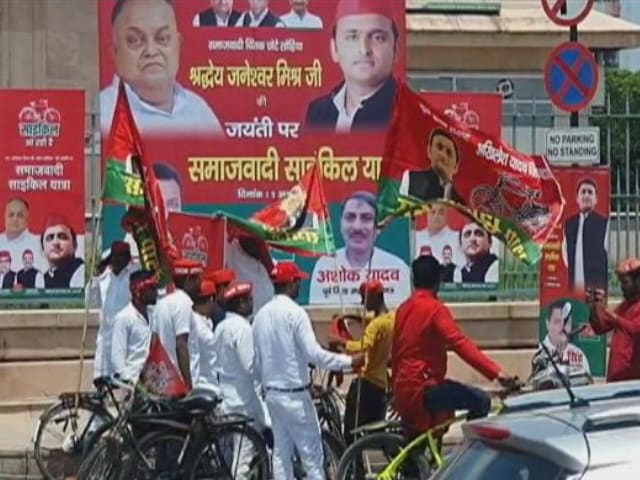 Video : Poll Bugle Sounded In UP As BJP, Samajwadi Party Begin 2022 Campaign