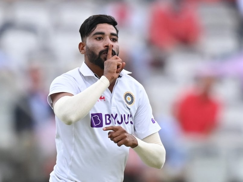 Mohammed Siraj has often broken into 'finger on lips' celebration after his wickets.© AFP