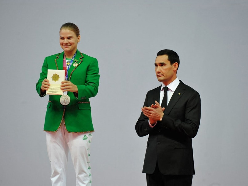 First-Ever Turkmenistans Olympic Medallist Gifted Car, Apartment, Cash