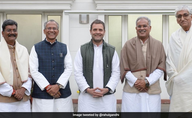 Meetings With Rahul Gandhi As Congress Moves On To Chhattisgarh Problem