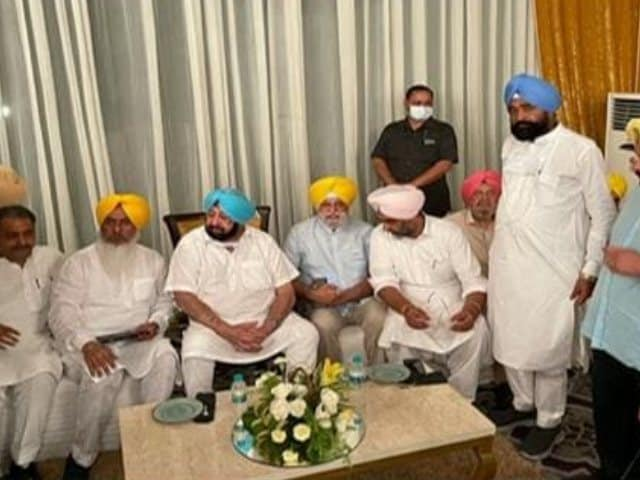 Video : After Calls For Removal, Amarinder Singh's Show Of Strength With 50 MLAs