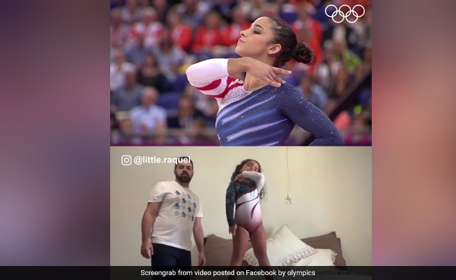 Watch: Little Gymnast Performs Olympic Champ's Routine