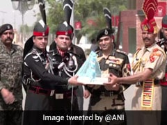 Pakistan Rangers Offer Sweets To Indian Officials At Attari-Wagah Border