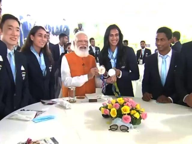 Video : Watch What PM Narendra Modi Said During Breakfast With Olympians