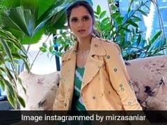 Sania Mirza Gives Print Mixing An Ethnic Touch In A <i>Bandhani</i> Coat And <i>Leheriya</i> Dress