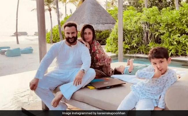 In Birthday Post For Saif Ali Khan, Kareena, Taimur And Jeh In Maldives