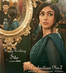 Mrunal Looks Gorgeous As Sita In First Look Poster Of Dulquer's Next
