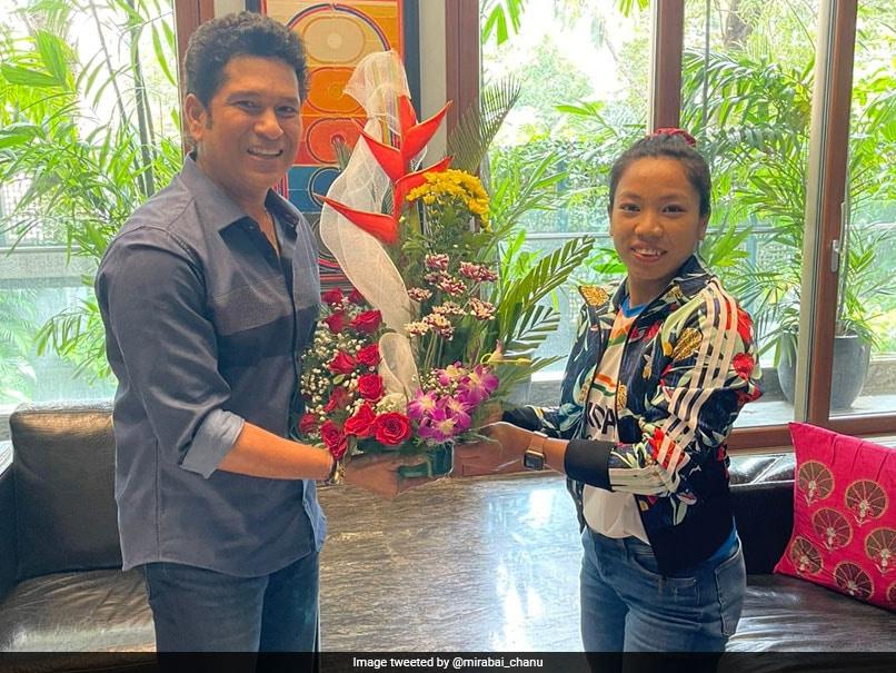 """Really Inspired"": Olympic Silver Medallist Mirabai Chanu After Meeting Sachin Tendulkar. See Pics"
