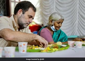 Onam 2021: Rahul Gandhi Relishes Classic Onam Sadya At An Old Age Home In Kerala (See Pics)