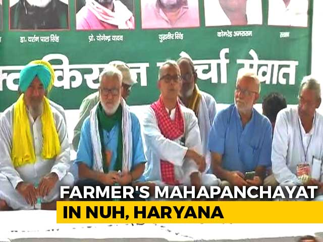 Video : Day After Clashes With Cops, Farmers Hold Mahapanchayat, To Block Roads