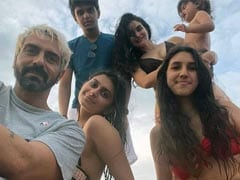 Arjun Rampal Sends A Family Postcard. Arik Steals The Show In The Pic