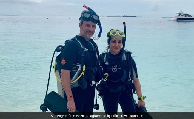 'Give Me The Outdoors Any Day Or Night': Raveena Tandon Went Scuba Diving With Husband Anil Thadani