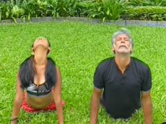 "How Milind Soman And Wife Ankita Konwar ""Sync Their Different Interpretations"" Of Surya Namaskar"