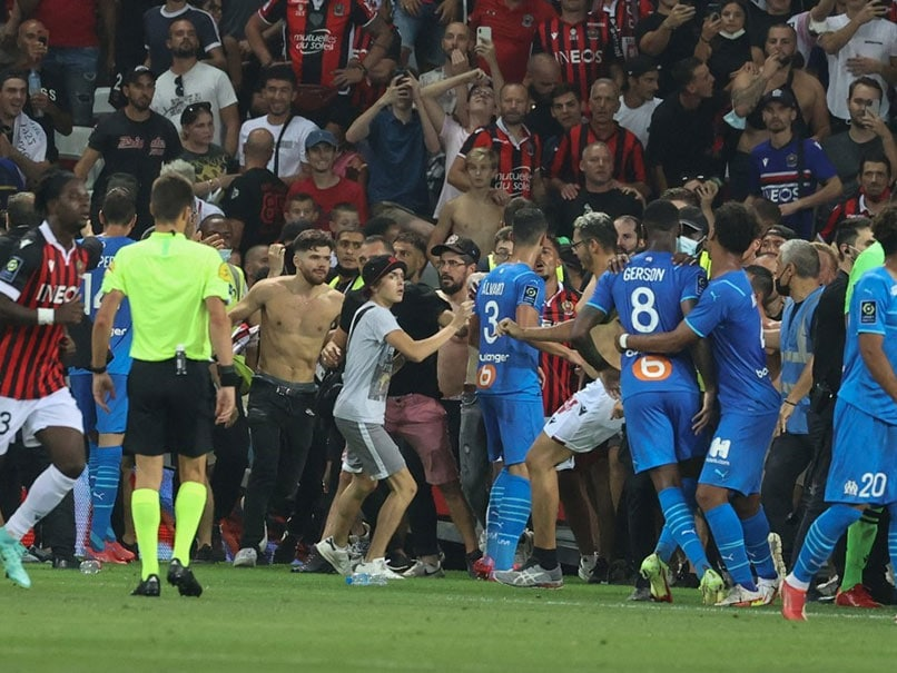 Watch: Bottles Thrown, Brawl As French Football Match Descends Into Chaos