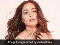 Hina Khan Dazzles Brighter Than A Diamond In A Sequinned Manish Malhotra <i>Saree</i>