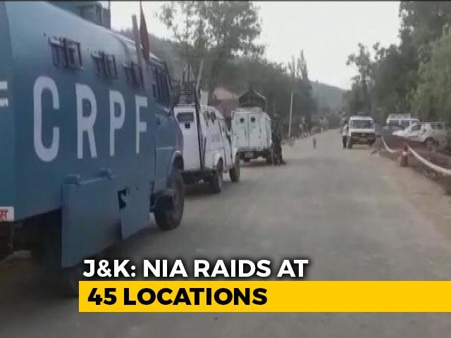 Video : Multiple Raids Across Jammu And Kashmir In Massive Crackdown On Terror Funding Cases