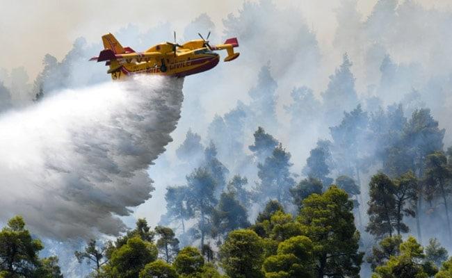 Blaze Ravages Evia Island On Sixth Day Of Greek Wildfires