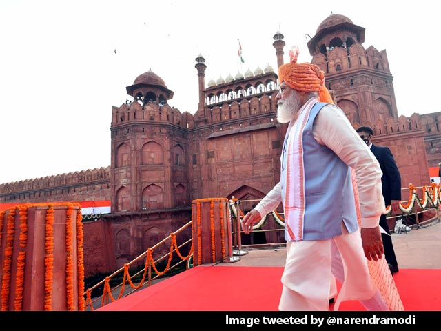 "Video : PM Sets ""100%"" Goal, Calls For ""Sabka Prayas"" On 75th Independence Day"