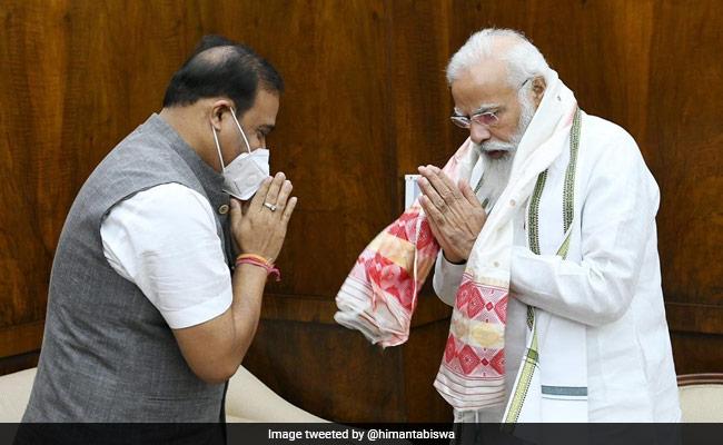 Assam Chief Minister Himanta Biswa Sarma Calls On PM Modi
