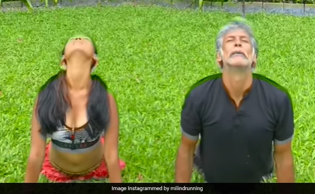 How Milind Soman And Wife Ankita Konwar 'Sync Their Different Interpretations' Of Surya Namaskar