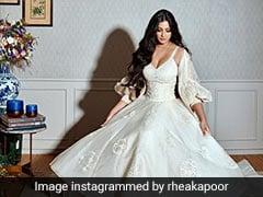 Rhea Kapoor's White Wedding Dress By Abu Jani Sandeep Khosla Came With A Chic Embroidered Jacket
