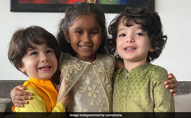 Raksha Bandhan 2021: Sunny Leone Shares Pics From Nisha, Noah, Asher's Festivities