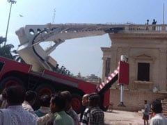 3 Killed As Trolley Of Crane Breaks While Installing National Flag In Gwalior