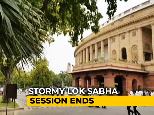 Video : Stormy Monsoon Session Ends In Lok Sabha As House Adjourns Indefinitely