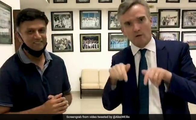 Watch: Rahul Dravid Teaches Kannada To British High Commissioner Alex Ellis