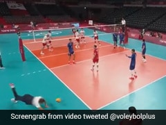 Watch: France Volleyball Coach Dives Full-Length To Keep Ball In Play During Tokyo Olympics Match