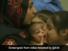 Heartwarming Video Of Girl Kissing Baby After Reaching India From Kabul