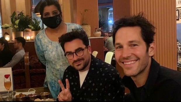 Schitt's Creeks Daniel Levy And Ant-Man Paul Rudd Enjoy Indian Meal In London