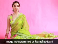 Kiara Advani's Rs 48K <i>Saree</i> Takes Us To An Enchanted Garden Of A Bygone Era