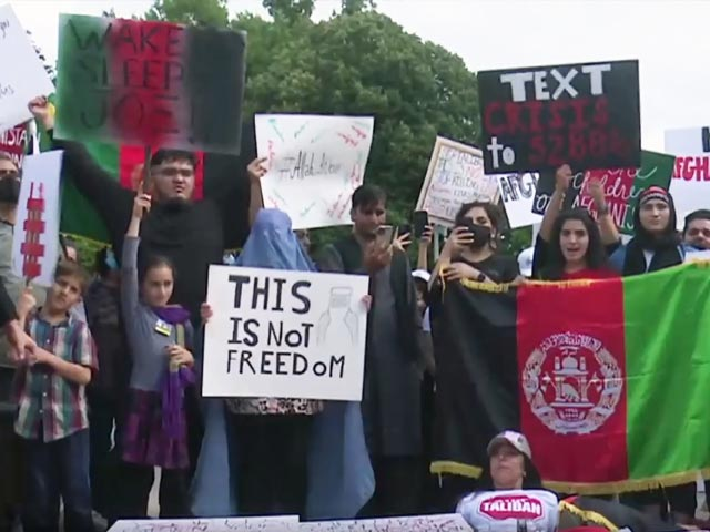 Video : Hundreds Of Afghans In US Protest Outside White House