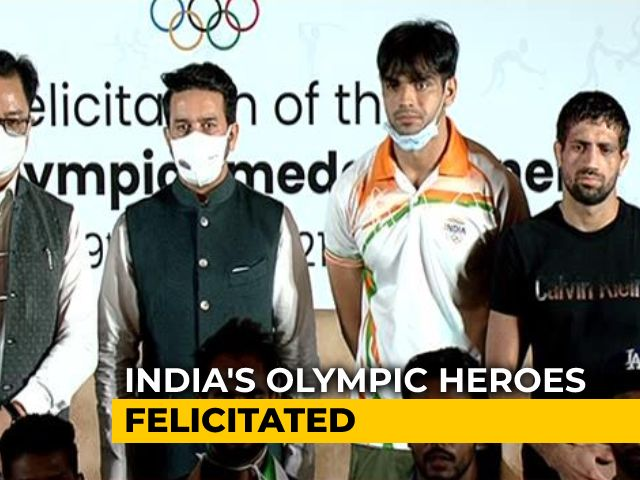 Video : Neeraj Chopra, Other Medallists Honoured After Grand Welcome