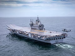 First Made-In-India Aircraft Carrier Vikrant Sets Sail For Maiden Trials
