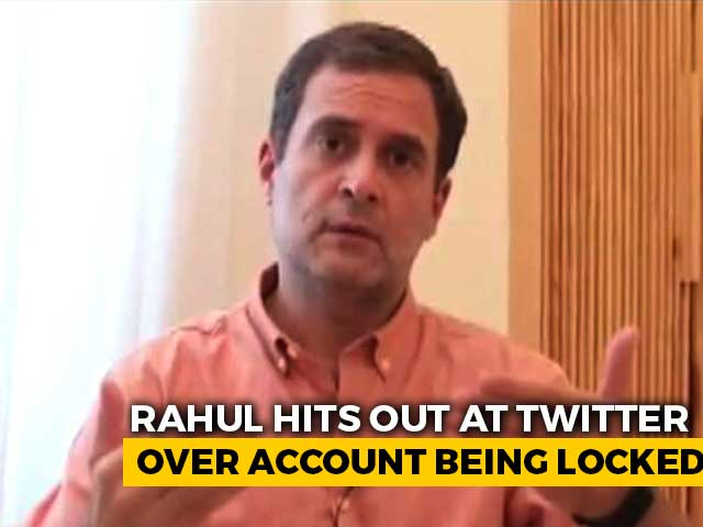 "Video : ""Will Twitter Define Our Politics For Us?"" Rahul Gandhi's Sharp Criticism"