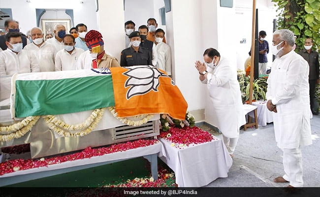 BJP Flag Over National Flag At Kalyan Singh's Prayer Meet Triggers Row