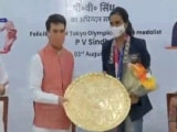 Video : Tokyo Medal Winner PV Sindhu Felicitated By Sports Minister