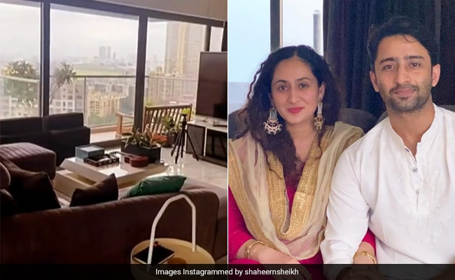 A Tour Of Shaheer Sheikh's Mumbai Apartment Which Comes With 'Thoda Sa Aasmaan'
