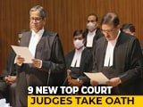Video : In A First, Nine Supreme Court Judges Take Oath In One Go