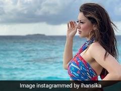 Hansika Motwani Continues Making Waves In Vibrant Printed Co-Ord Sets