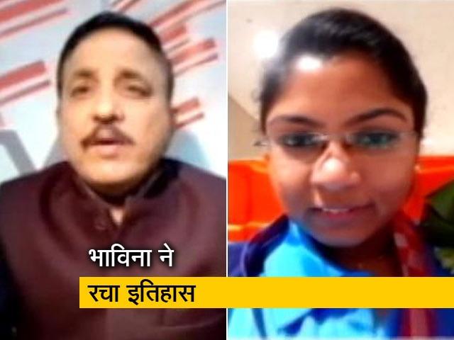 Videos : '100% दिया और नतीजा निकला' : NDTV से बोलीं सिल्वर मेडल विजेता भाविना पटेल
