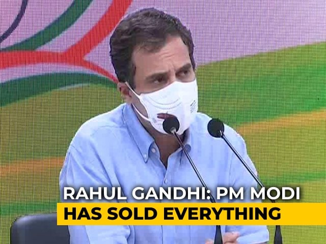 Video : 'PM Selling What India Built Over 75 Years': Rahul Gandhi On Monetisation