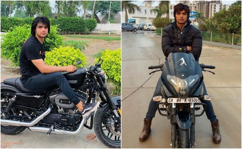 Neeraj Chopra owns the Bajaj Pulsar 220F and the Harley-Davidson 1200 Roadster