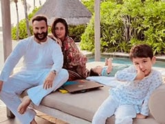 """""""To Eternity And Beyond"""": In Birthday Post For Saif Ali Khan, Kareena Kapoor, Taimur And Jeh In Maldives"""